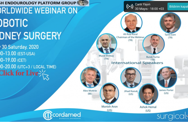 "Prof. Dr. Burak Turna ""WORLDWIDE WEBINAR on KIDNEY Surgery""de."
